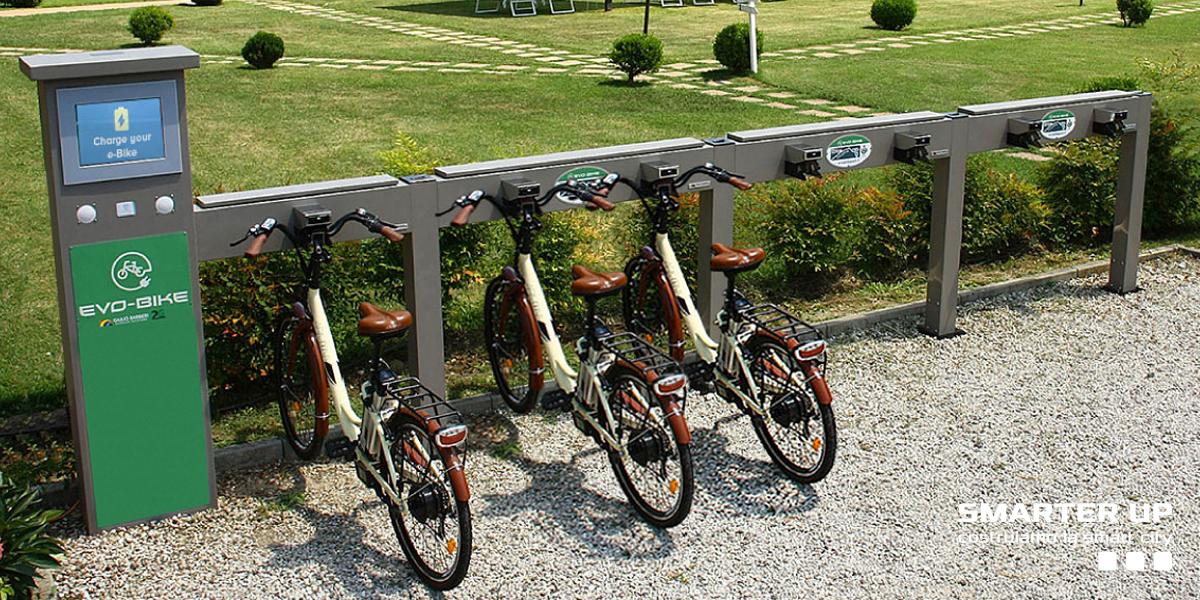 Stazioni di noleggio e ricarica per biciclette elettriche Smarter Up
